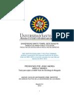 Neoinstitucionalismo y Política Criminal Análisis Comparativo Entre El Segundo Gobierno de Uribe y Pimero de Santos