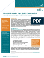 Using HCUP for State Health Policy Analysis