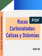 Rocas Carbonatas Calizas-Dolomitas