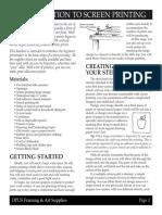 Intro Screenprinting