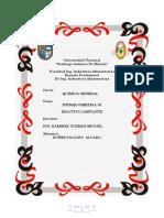 PRACTICA 4 Reactivo en Exceso y Limitante. quimica general