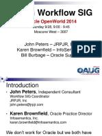 SIG9176 Peters-OOW2014 Workflow SIG