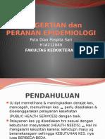 Pengertian Dan Peranan Epidemiologi