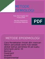 METODE EPIDEMIOLOGI