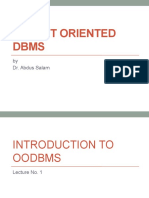 Object Oriented DBMS-1