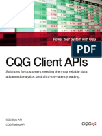 CQG API Brochure