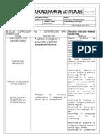 Cronograma de Activides Guiñansaca