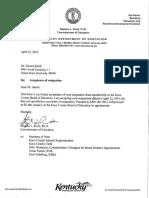 Dexter Smith Resignation
