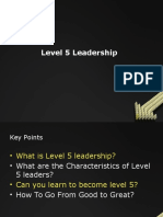 TL- Level 5 Leadership