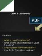 TL- Level 5 Leadership
