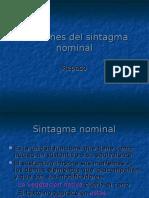 Funciones Del Sintagma Nominal Repaso