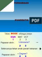 Documents.tips Penggunaan Kalkulator Persamaan Kuadratik