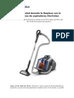 200416 NP_Cuida tu salud durante la limpieza con la nueva línea de aspiradoras Electrolux