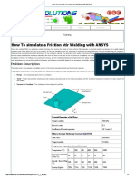 How to Simulate a Friction Stir Welding With ANSYS