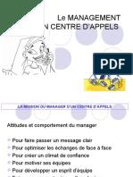 Le Management d'Un Centre d'Appels Pour Support (1)