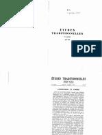 Revue Études Traditionnelles 1970