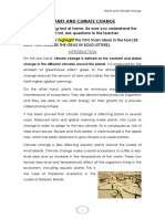 plants and climate change student model