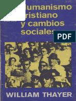 Humanismo Cristiano y Cambios Sociales