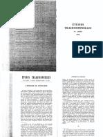 Revue Études Traditionnelles 1978