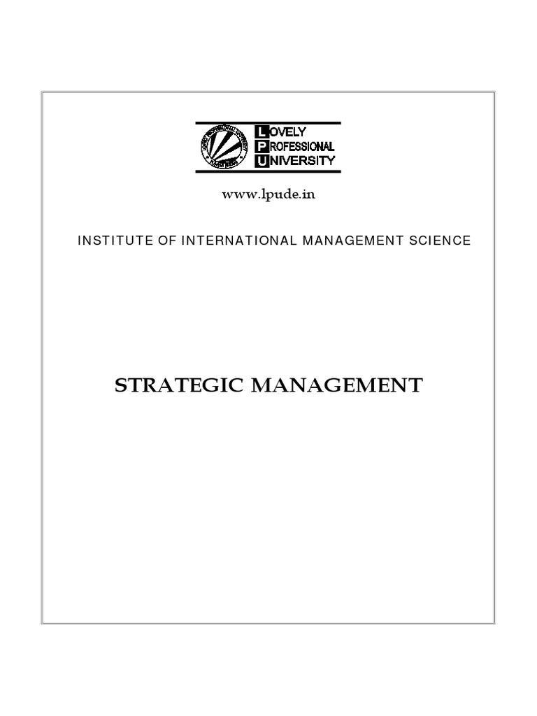 Strategic management dmgt502ebookk1pdf strategic management strategic management dmgt502ebookk1pdf strategic management strategic planning fandeluxe Gallery