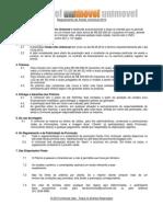 Regulamento do Feirão Chic Unimovel 2010