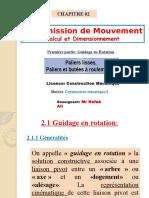 Guidage en Rotation-chapitre-2 (Première Partie)