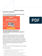 Top 25 ETL _ Datawarehouse Testing Interview Questions