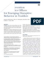 Early Intervention in Pediatrics Offices for Emerging Disruptive Behavior in Toddlers