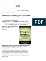Financial Shenanigans Checklist – Hurricane Capital