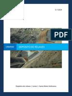 Deposito de Relaves en mineria