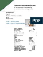 LISTA DE INSUMOS CURSO NAVIDEÑO 2014.docx