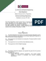Study Regulations