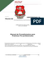 Manual de Procedimientos Para Practicas Preprofesionales 1