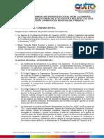 Convenio de Cooperación Interinstitucional Entre La Compañía Empresa de Desarrollo Comercial y Tecnológico Prilantec CIA