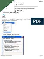 Configuring Windows XP Router