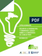 Diálogo de la Sociedad Civil y Comunidades Locales Rumbo a la Conferencia del Clima, en París.