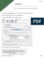Configuring MacOS X Firewall