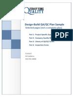 Design Build Qa Qc Plan