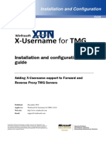 X Username for TMG 1.0.0 Installation and Configuration Guide