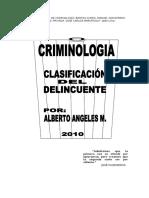 Clasificacion Del Delincuente Final