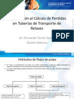 Cálculo de Perdidas en Tuberías de Transporte de Relaves