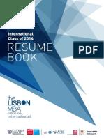 TheLisbonMBA_ResumeBook_InternationalClass2014