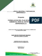 Formulacion Del Plan de Manejo Ambiental Para El Distrito de Barranquilla