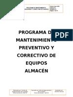 Programa de Mantenimiento de Equipos Modificacado