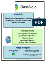 behavior assessment with classdojo handout
