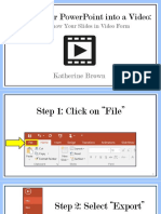 making your powerpoint into a video