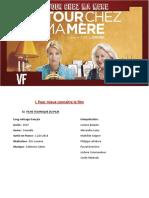 Fiche Pedagogique Film Retour Chez Ma Mère - Adresse Email Et Reseaux Sociaux A1-B1