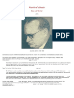 Edward Winter - Alekhine's Death