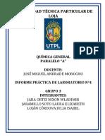 Informe Quimica Practica 4