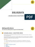 Bibliografía Mooc Usabilidad-gestion Web